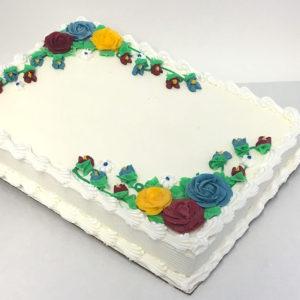 1/4 Sheet Cake Serves 22-25