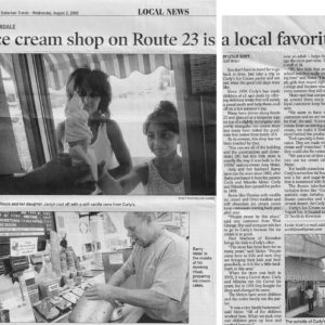 newspaper article from Suburban Trends Aug. 2006